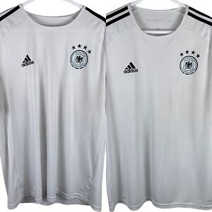 Lot of 2 White Germany National Team Adidas Practice Soccer Jersey Men XL