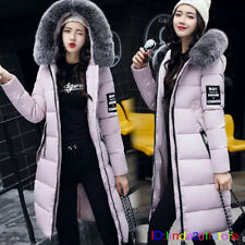 Winter jacket Women Down Jackets Fur Collar Warm Padded Cotton Coat Long Parka