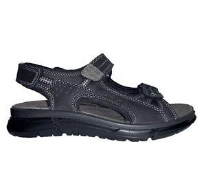 ENVAL SOFT 5243000 Sandals Shoes trekking Leather Men Black