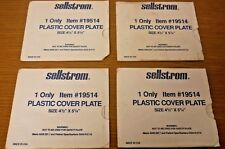 """Lot of 4 SELLSTROM 19514 PLASTIC COVER PLATES, 4.5"""" x 5.25"""" - Free Shipping"""