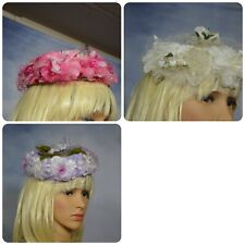 3 vintage church, spring floral hats Collectibles