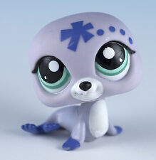 Littlest Pet Shop Seal #1842 Lavender and Purple With Aqua Blue Eyes