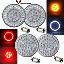 "Eagle Lights 2"" LED Turn Signals Front (1157) & Rear(1157) Harley w/Smoke Lenses"