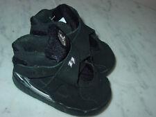 """2015 Nike Air Jordan Retro 8 """"Chrome"""" Black/Light Graphite Toddler Shoes Size 4C"""