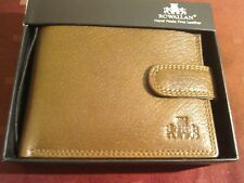 Rowallan of Scotland ..   Hand made fine leather coin and card wallet with box
