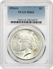 1924-S $1 PCGS MS62 - Better Date from San Francisco - Peace Silver Dollar