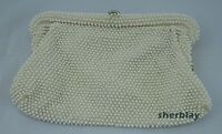 Vintage Lumured Corde Bead Beaded Clutch Purse Evening Bag Handbag