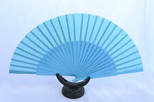 XXL Blue Spanish flamenco Pericón dance fan guajira eventails ventagli abanico
