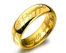 """Bilbo's Hobbit Lord of The Rings Ring """"The One Ring"""" Plus Chain"""