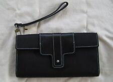 NWT Ann Taylor Black stitched women's Wallet wrislet