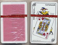 Cartamundi 100% Plastic Playing Cards 1 Red Deck  Bridge Size Standard Index *