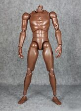 1/6 scale Male black skin tone narrow shoulder nude action figure body afrcian