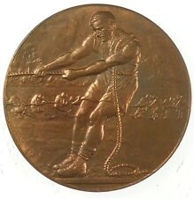 Sports TUG OF WAR bronze thin embossed striking 38mm by Pinches