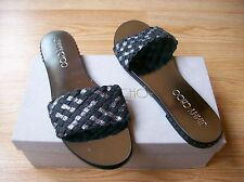 $475 Jimmy Choo Weave Slide Sandals Studded Flat  Woven Anthracite 41 US 11 NEW