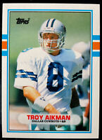Lot of 53 TROY AIKMAN Inserts + 1989 Topps Traded ROOKIE #70T - Cowboys HOF RC