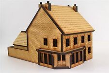 OO Victorian Corner Shop with Rear Outhouse -Laser-Cut MDF- Railway Modelling