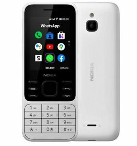 Nokia 6300 4G 2020 White 2.4 inches (FACTORY UNLOCKED) Quad Core Phone By FedEx