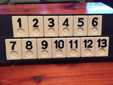 Rummikub Replacement Tiles pc Set of 13 Black 1990 Vintage Pressman game pieces