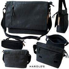 Tasche Umhängetasche Citybag Harold's Messenger Kurier Canvas darkstone Ta8034*