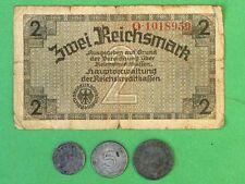 Germany Third Reich 1;5;10 Reichspfenning & 2 Reichsmark 1941-1944
