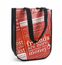NEW Lulemon Manifesto Reusable Tote Bag Eco Red SMALL Lunch Yoga Gym Shopping