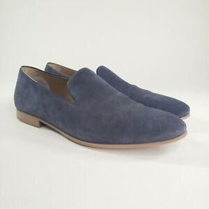 Aldo Mens Tralisien Round Toe Suede Slip On Blue Loafers Shoes Size 11
