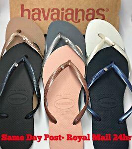 Original For Havaianas Flip Flops Slim Crystal or Personalised Genuine Women