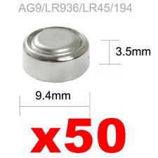 BATTERIE PILE AG9,LR936 ALKALINE 50 LR45,194 GP94A SR 936W OROLOGI GIOCATTOLI gb