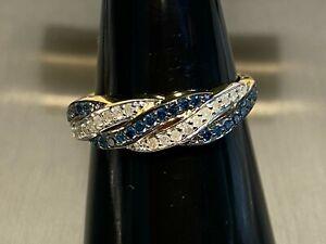 925 Silber Ring vergoldet mit 47 Diamanten besetzt Ring Gr 19