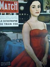 PARIS MATCH N° 0441 PASCALE AUDRET MANAOS VIOL NOZIERES TRAIN PARIS NIMES 1957
