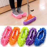 Hot 2Pcs Mop Slippers Lazy Floor Foot Socks Shoes Quick Polishing Cleaning Dust