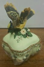 "Heritage House BIRD MUSIC BOX ""LOVE IS A MANY SPLENDORED THING"" MUSICAL RARE"