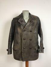 Antike Hilbert Motorrad Lederjacke motorcycle leather jacket WK2 Kradfaher