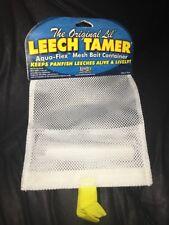 LEECH TAMER AQUA-FLEX WHITE MESH BAIT CONTAINER by Lindy - Part #LT002