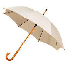 The Alrai Wood Hook Automatic Walking Umbrella for Wedding and Events - Ivory