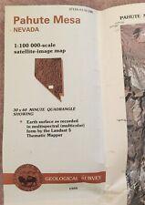 USGS Satellite & Topographic Maps PAHUTE MESA Nevada 1984 Nellis Wild Horse Area