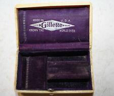 coffret boite ancienne rasoir pub GILLETTE bon état