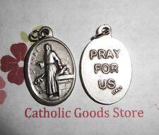 Saint St. Luke - Pray for Us - Italian Silver tone Oxidized 1 inch Medal