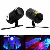 2pcs Motocicleta LED Proyector láser LED ala de ángel  logotipo luz Azul ES