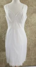 Pre-Owned Vtg. Shadowline Night Gown Slip  Lace Beige Cream 38 Tall USA
