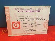 Football Ticket -  UEFA - RSCA Anderlecht Jupiler pro league - KSV Waregem -1994