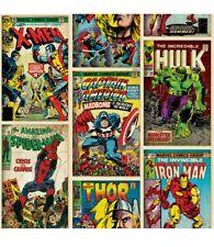 2 X Kids @ Home- Marvel Comic Look Action Heros Wallpaper Rolls Pattern:70-238