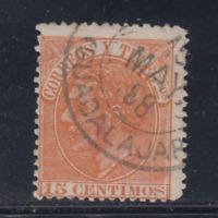 ESPAÑA (1882) USADO SPAIN - EDIFIL 210 (15 cts) ALFONSO XII - LOTE 1