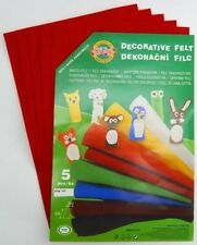 CRAFT FELT FABRIC 5PCS DECORATIVE DECOR HANDICRAFT SHEET PATCHWORK DIY ART CHILD