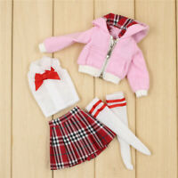 A set of Pink coat with the Uniform suit for blythe doll licca OB 24 DOLLS