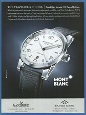 MONT BLANC Time Walker Voyager UTC - 2013 Print Ad (Not real watch)