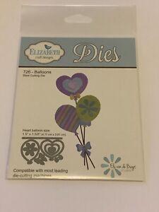 Elizabeth Craft Designs Cutting  Dies  Balloons x 8 New