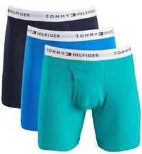 Tommy Hilfiger Classic Boxer Briefs 3 PACK Underwear Blue Cotton $39.50