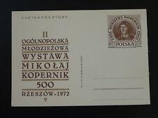 astronomy mathematics Copernicus postal stationery card Poland 77997
