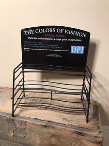 Vintage OPI Designer Display Nail Polishes Lacquer Fashion rack rare metal stand